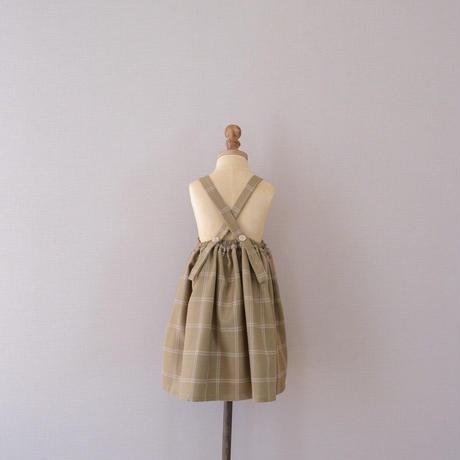 Apron dress / olive <09-14>