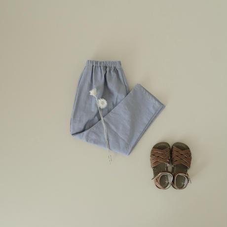Sarouel pants  / saxe denim