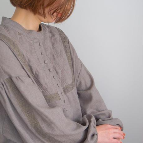 ladies Galette tunic / brown <09-104>
