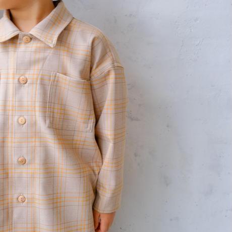 Over shirt / orange check <09-19>