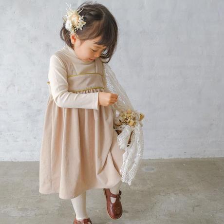 Pomme dress / milk tea <09-12>