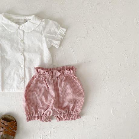 Pumpkin pants  /  chelish pink gingham