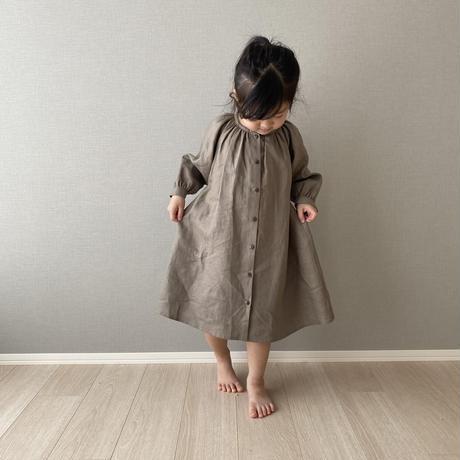 kids * linen shirt OP / taupe
