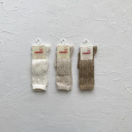 condor / Perle geometric openwork socks ( size : 1-2 )