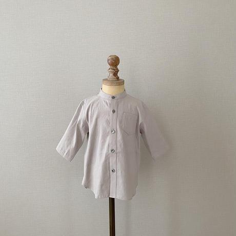 Stand collar shirt  / ash grey <09-09>