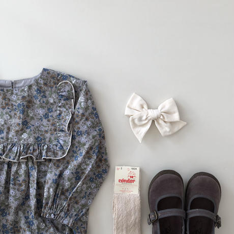 square frill rompers(liberty/maria)