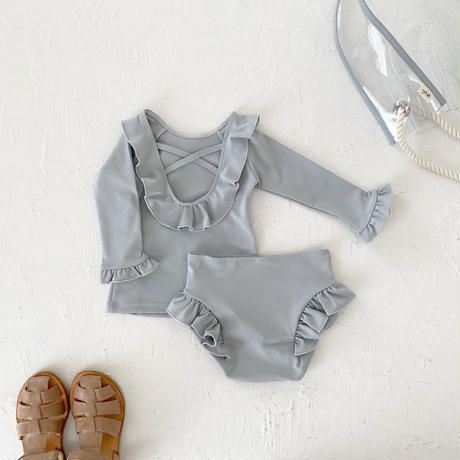 Swim wear - bottoms frill- / cloud blue