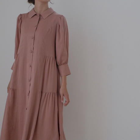 ladies Shirt dress / baked pink