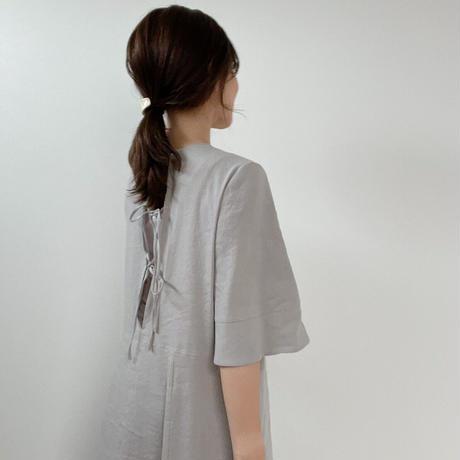 ladies Flare dress / ash grey <09-106>