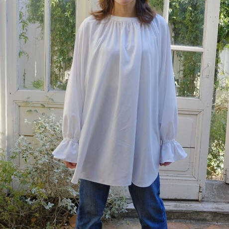 ladies Over tunic / white