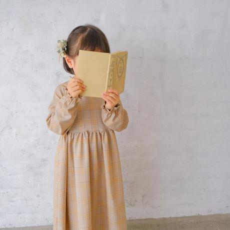 Tarte tatin dress / orange check <09-06>