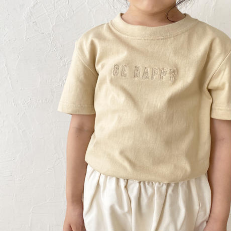kids BE HAPPY collaboration T / beige