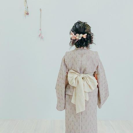 Yukata / shibori -vintage pink  (M)