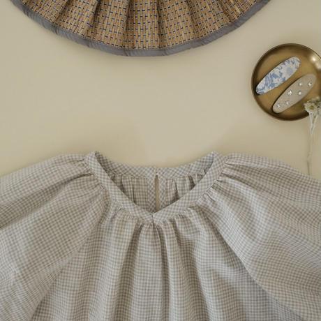kids Summer dress  / grey gingham