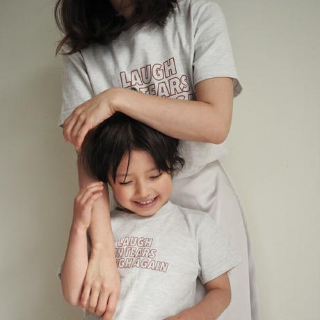 """【受注】kids """" font T """" / oatmeal"""
