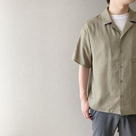 unisex Open collar shirt / check