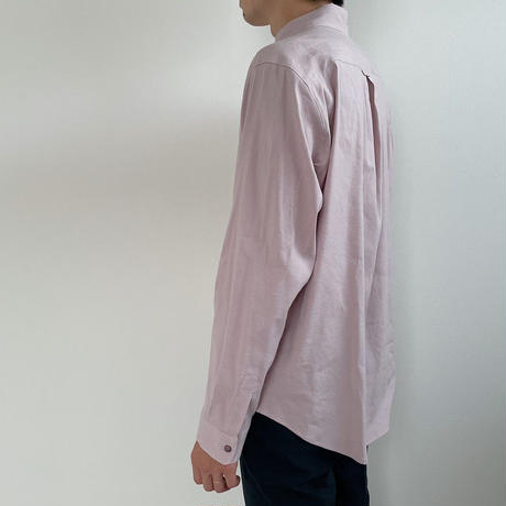 Mens Linen shirt / lavender <09-109>