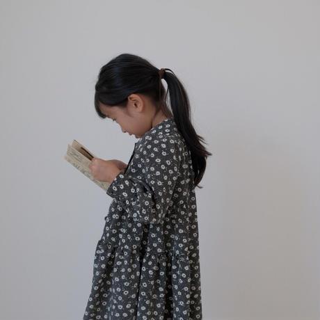 kids Shirt dress / monotone flower