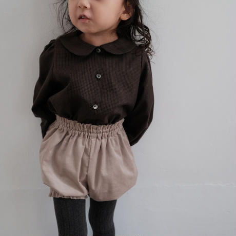 Coco long blouse / brown check