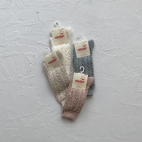 condor / Cotton openwork knee-high socks ( size : 1-2 )