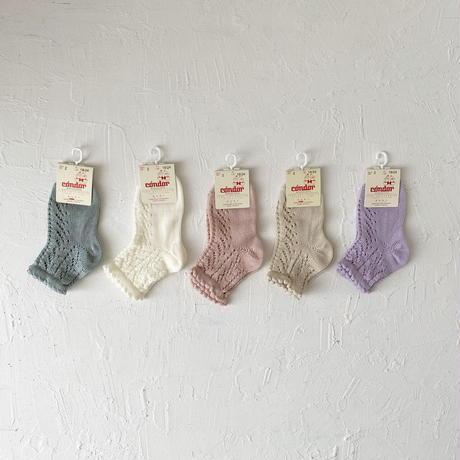 condor / Perle openwork Short socks  ( size : 4-6 )