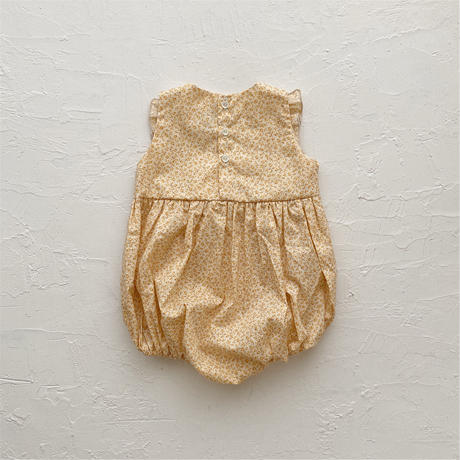 square frill rompers /   Michael (yellow) 80 size