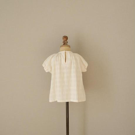 Gather blouse / ecru