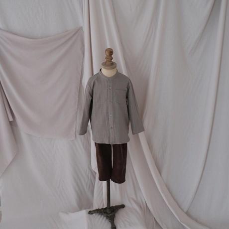 Stand collar shirt / eucalyptus