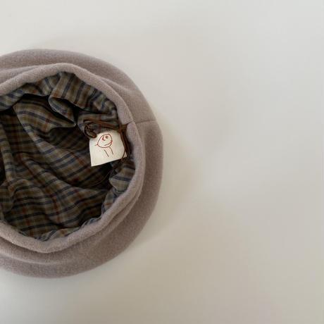 ×chipmunk&taddyhare Wool beret / milk tea