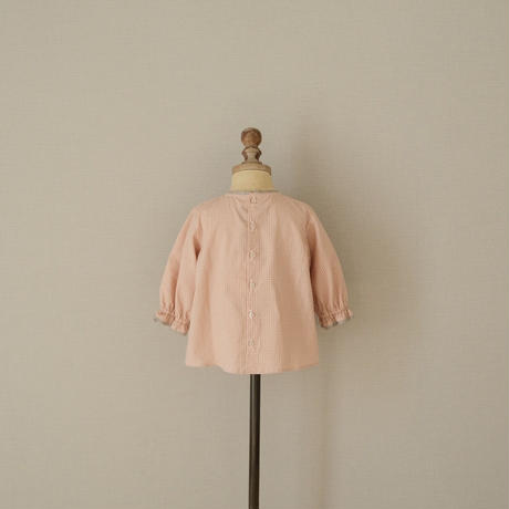Balloon blouse / pink gingham