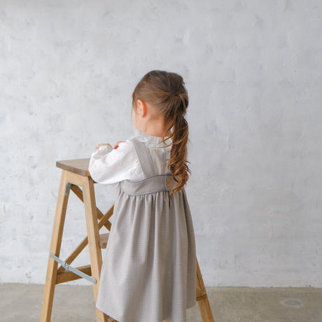 Pomme dress / grey beige <09-13>