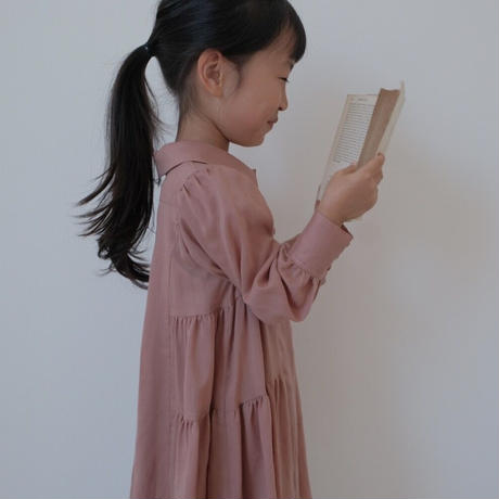kids Shirt dress / baked pink