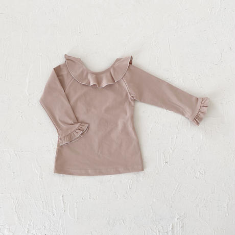 Swim wear - tops frill - / dusty pink