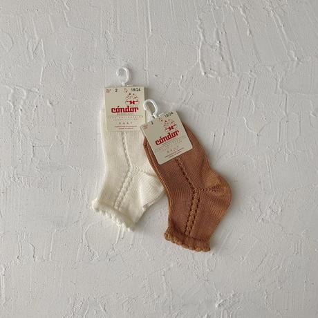 condor / Pearl side openwork short socks  ( size : 4)