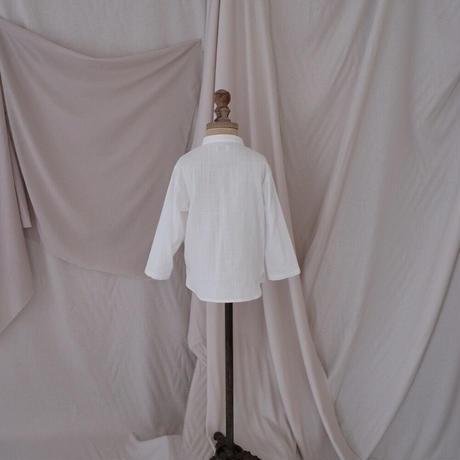 Stand collar shirt / white