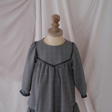 Latte dress / classic check