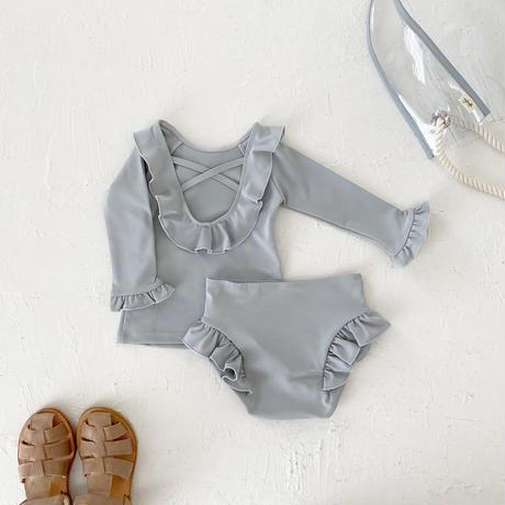 Swim wear - tops frill - / cloud blue
