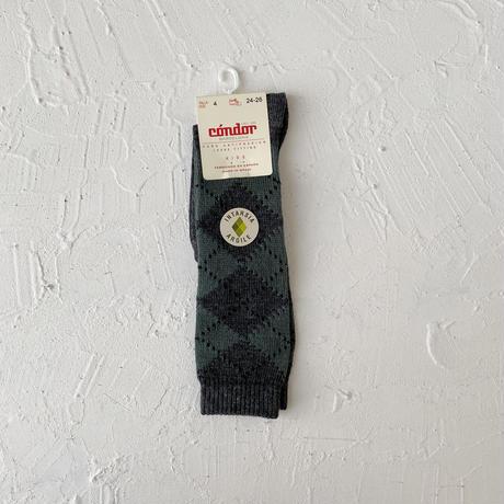 condor / Argyle knee socks ( size : 2-8)