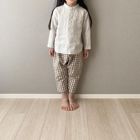 kids * linen shirt / sage