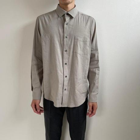 Mens Linen shirt / ash grey <09-108>