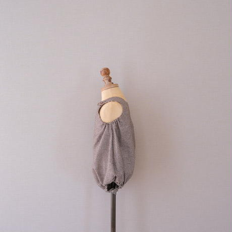 Balloon romper / black wool <09-16>