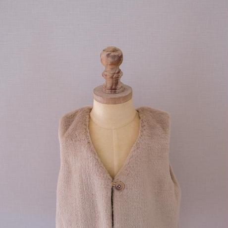 Fur vest / brown <09-23>