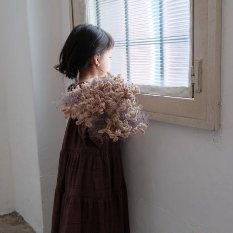 kids * Tiered dress / burgundy check