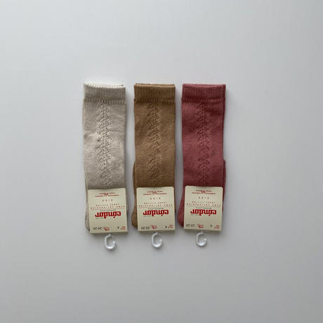 condor / Side openwork high socks ( size : 4-6 )