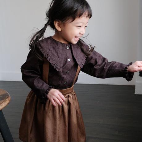 Suspender skirt / caramel