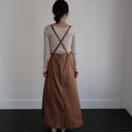 ladies * Wrap skirt / caramel