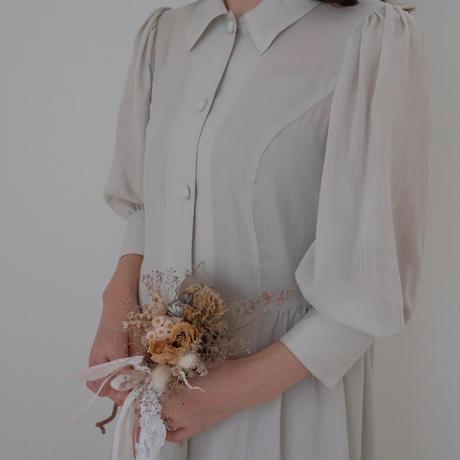 ladies Shirt dress / soy cream