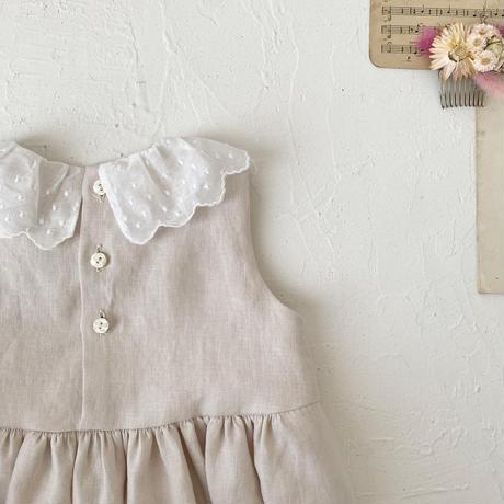 Shell dress  / milky pink
