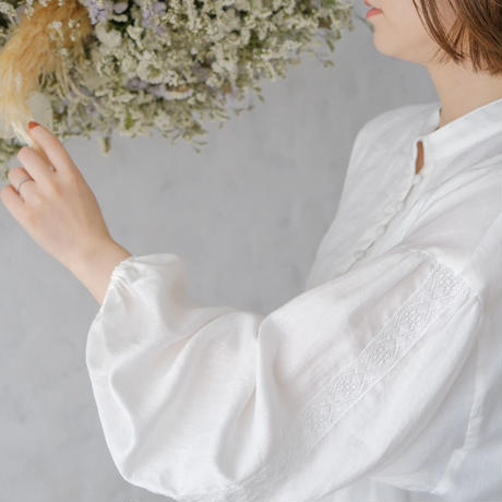 ladies Galette tunic / white sugar<09-103>