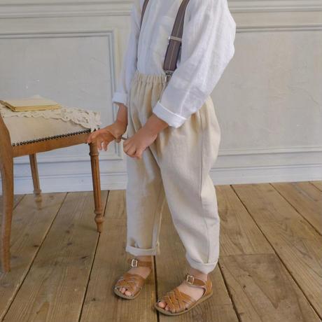 Sarouel pants  / tweed linen